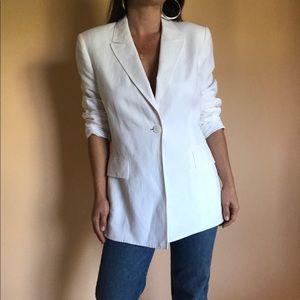 white linen blazer • size sm-med • vintage